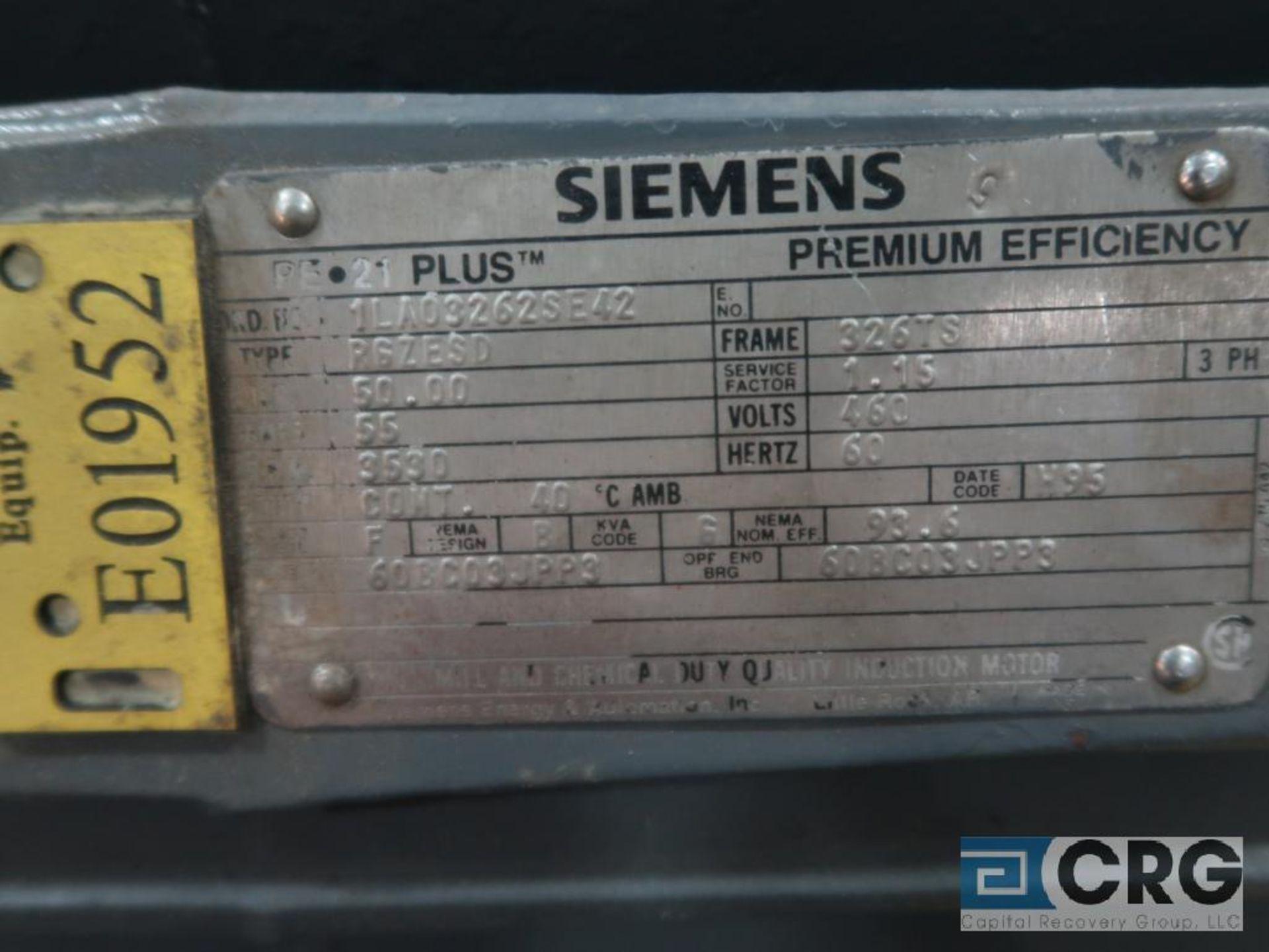 Siemens PE-21 PLUS motor, 50 HP, 3,530 RPMs, 460 volt, 3 ph., 326TS frame (Finish Building) - Image 2 of 2