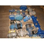 Lot of (7) valves, assorted types and sizes (496 Dock Area)