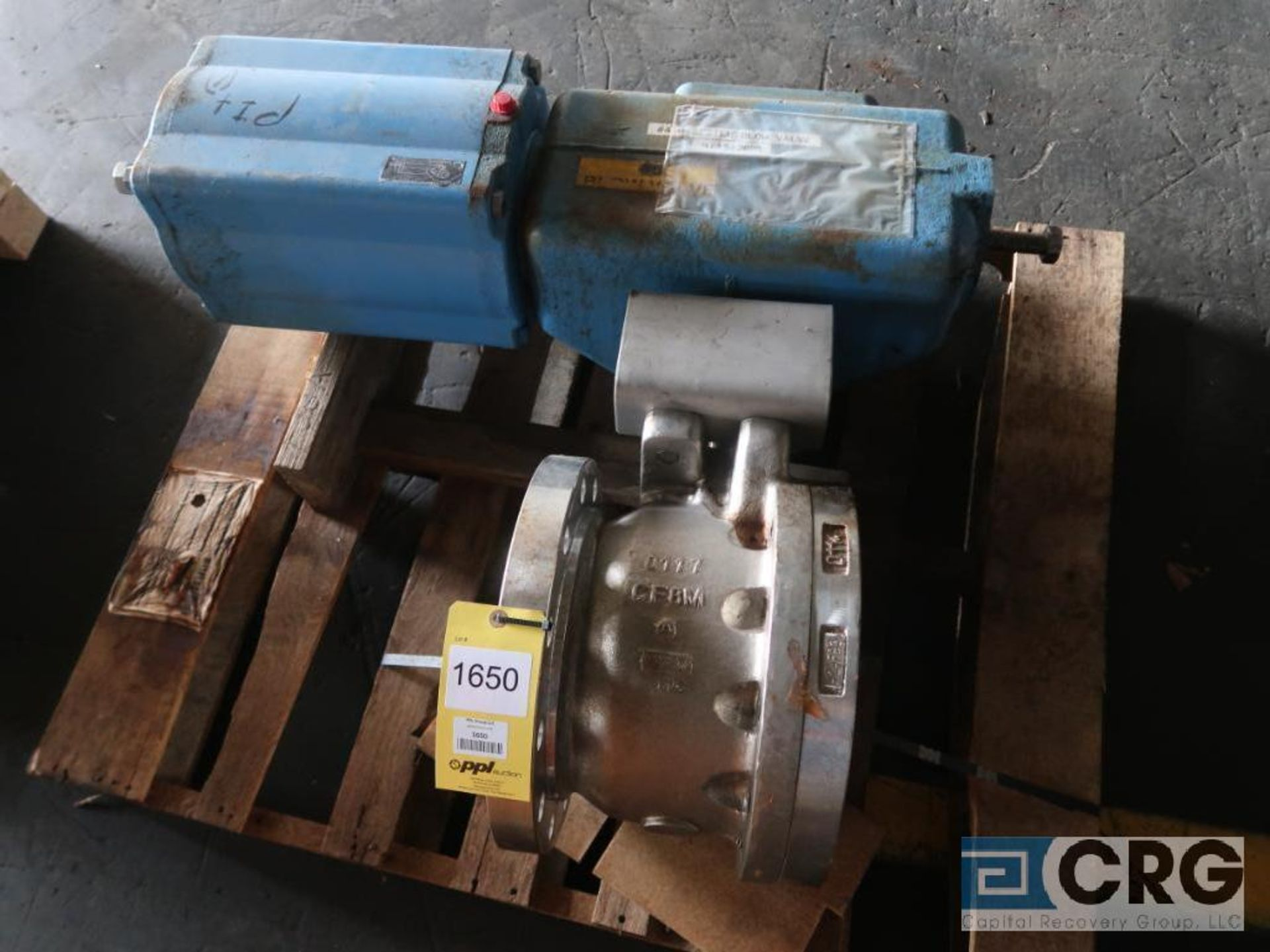 Jamesbury 6 in. stainless actuator ball valve, CF8M (Off Site Warehouse)