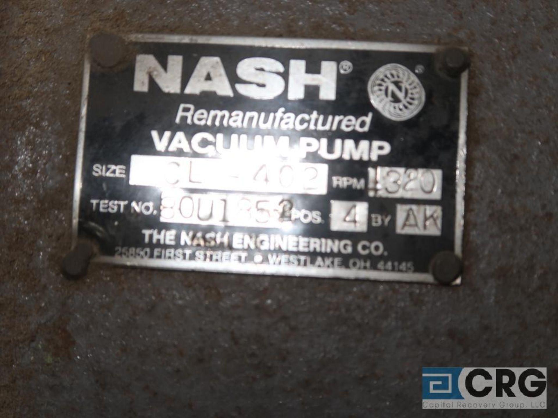 Nash CL 402 vacuum pump, s/n U 185 (Off Site Warehouse) - Image 2 of 2