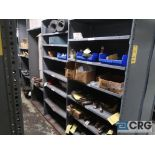 Lot of (30) sections with assorted parts including gears, chain, walves, packing, gaskets, and