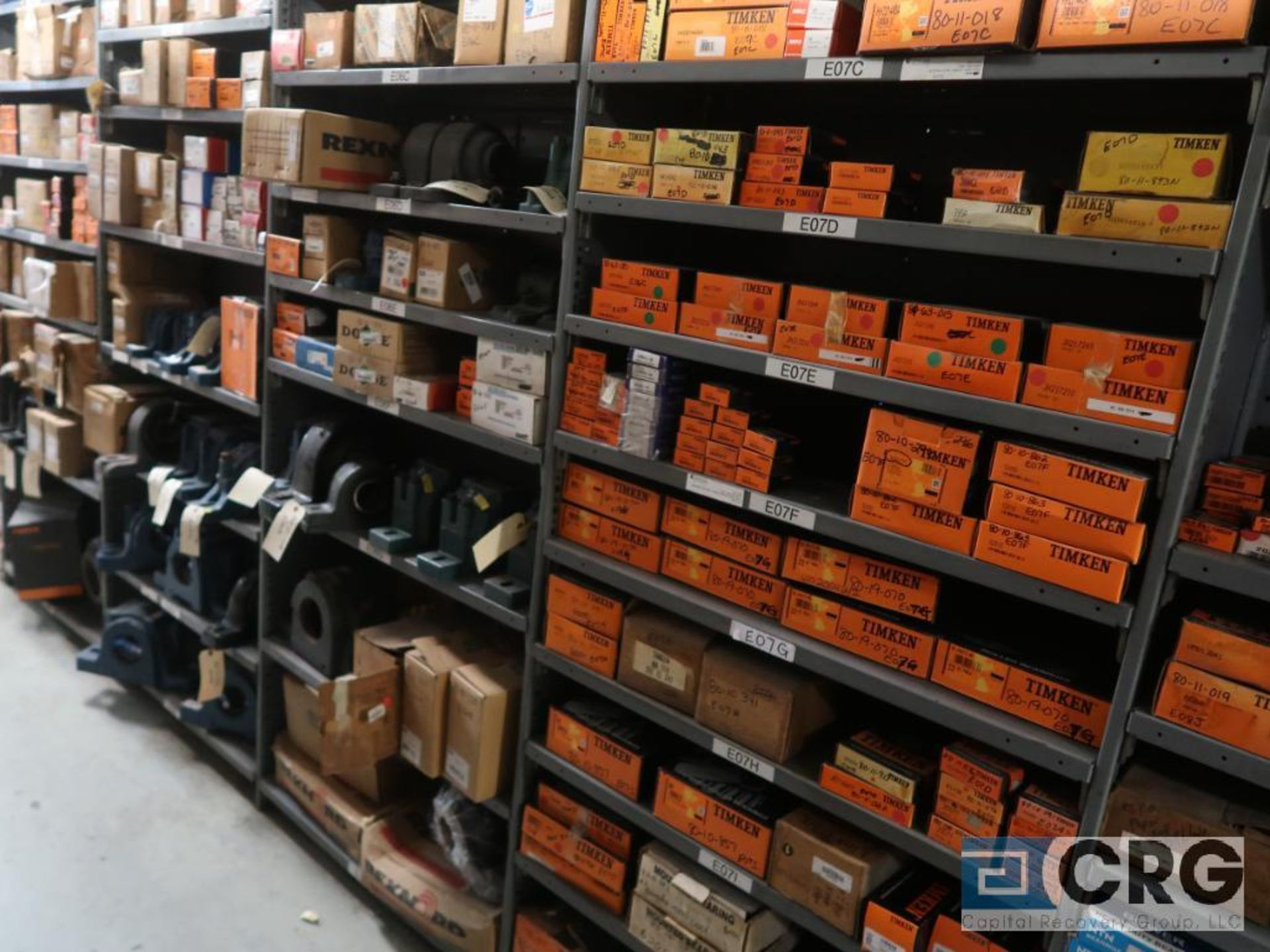 Lot of assorted bearings on (18) sections of metal shelving (located in Basement Store) - Image 10 of 17