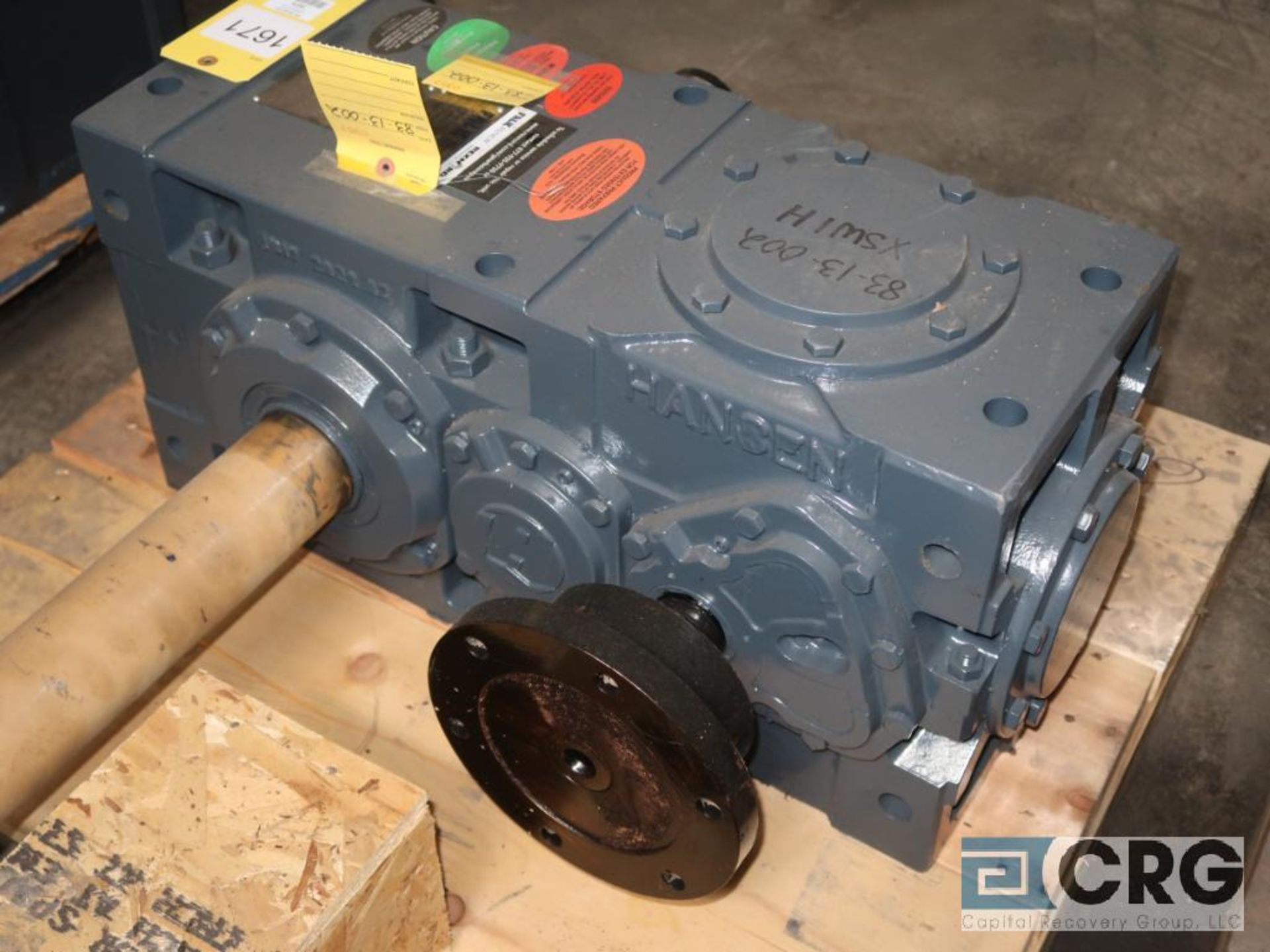 Falk/Hansen RD821S BND gear drive, ratio-1.875, RPM 1,790/143/954, service rate HP. 125 (Next Bay - Image 2 of 3