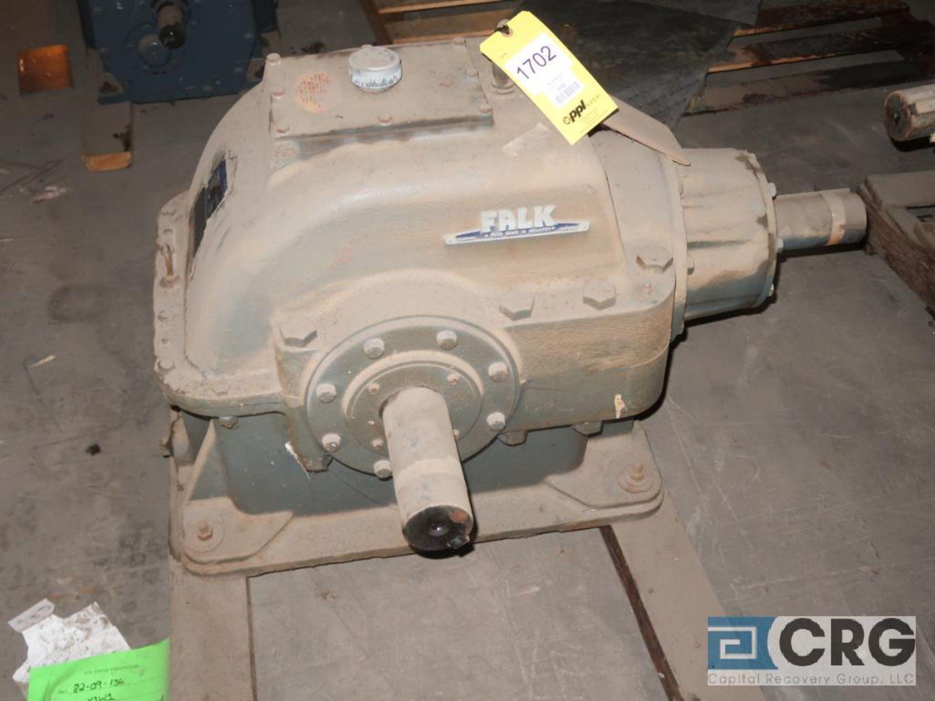 Falk 2090GHB1K gear drive, ratio-2.765, input RPM 734.66, output RPM 265.7, service rate HP. 50, s/n