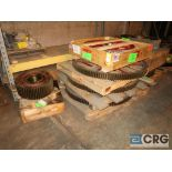 Lot of (14) pallets of gears (Next Bay Cage Area)