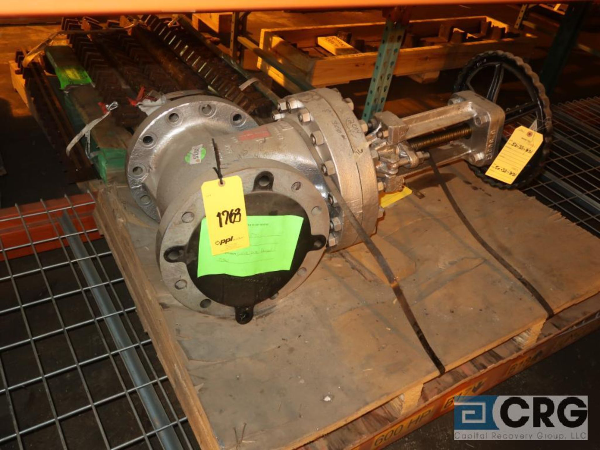 Lot of assorted parts including expansion joint, valves, fan blade, and rotors (Next Bay Cage Area) - Image 15 of 15