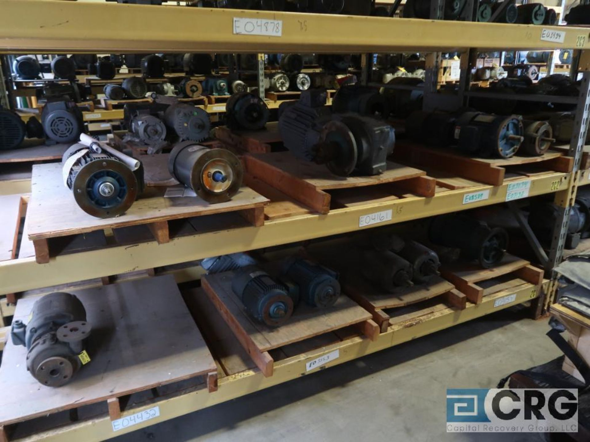Lot of (38) assorted 5 HP and smaller motors on (6) shelves (Motor Building) - Image 3 of 3