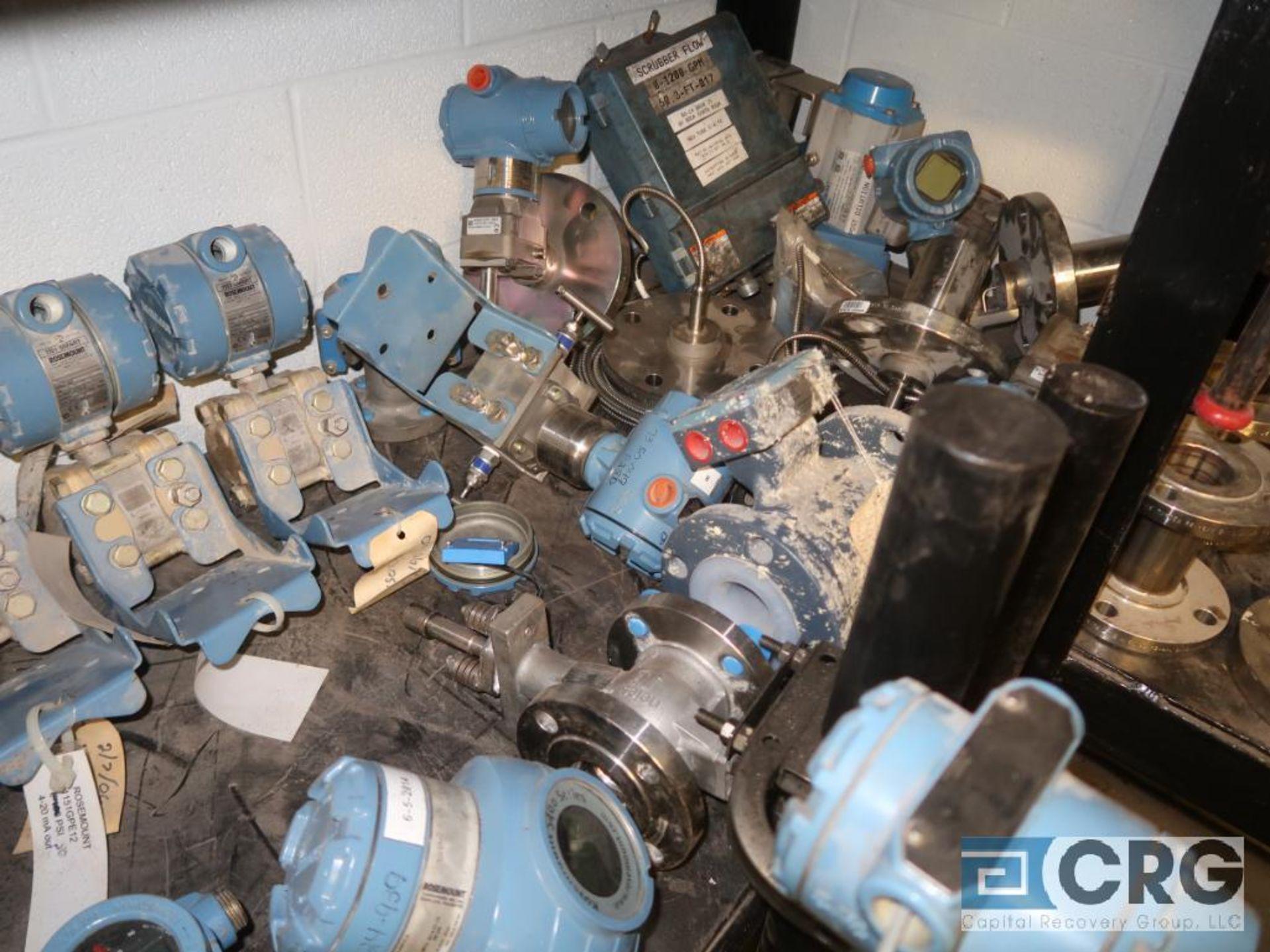 Lot of assorted Foxboro and Rosemont assorted sensors-on (1) shelf of rack (Inside Shop-496 Dock - Image 2 of 2