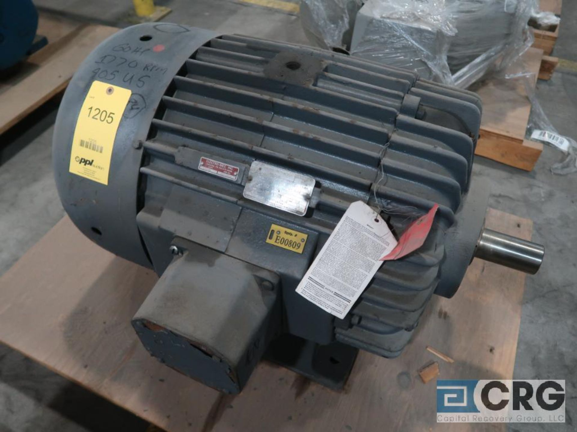 Delco AC motor, 60 HP, 1,765 RPMs, 460 volt, 3 ph., 405 US frame (Finish Building)