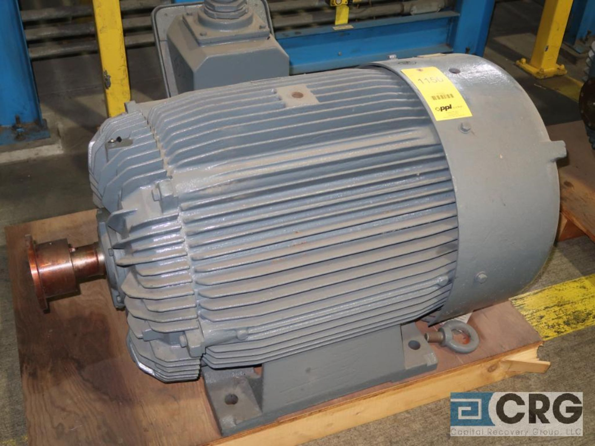 Teco-Electric induction motor, 150 HP, 3,555 RPMs, 460 volt, 3 ph., 445 TS frame (Finish Building)