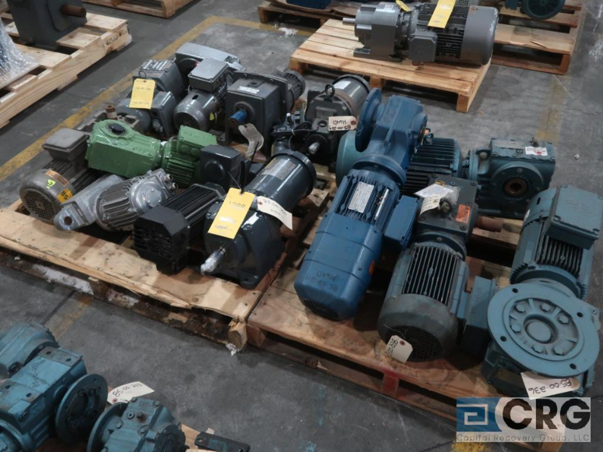 Lot of (14) gear drives with motors, various HPs (Finish Building)