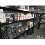 Lot of (7) assorted size steel shelving including (5) sections 8 ft. L x 2 ft. W x 74 in. H, and (2)