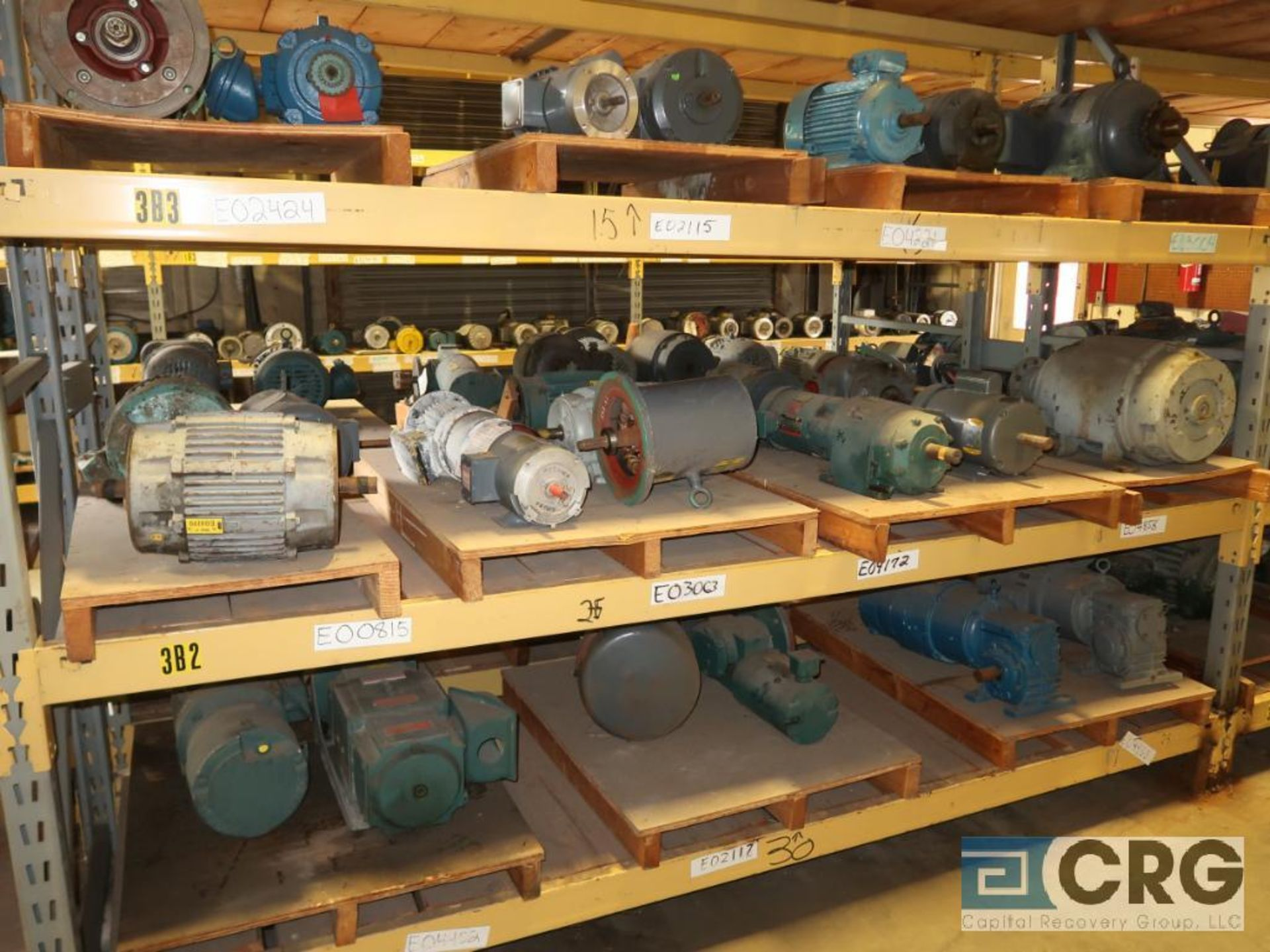 Lot of (63) assorted 5 HP and smaller motors on (8) shelves (Motor Building) - Image 2 of 3