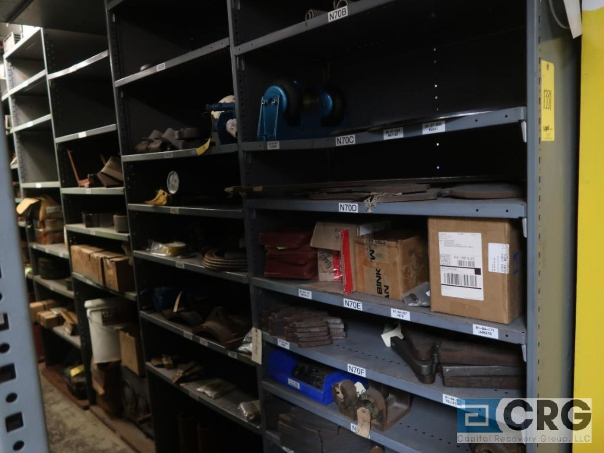 Lot of (35) sections with assorted parts including gaskets, fittings, shaft pins, gears, and - Image 13 of 17