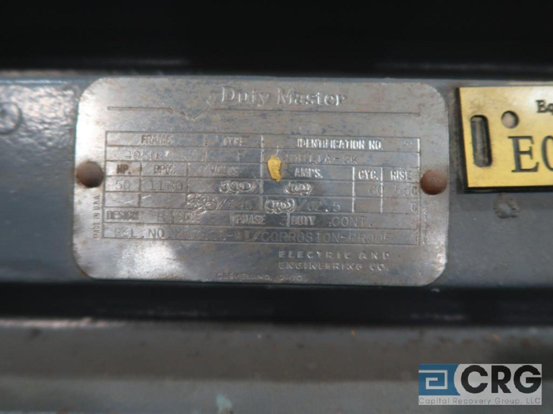 Reliance Duty Master motor, 50 HP, 1,180 RPMs, 440 volt, 3 ph., 405U frame (Finish Building) - Image 2 of 2