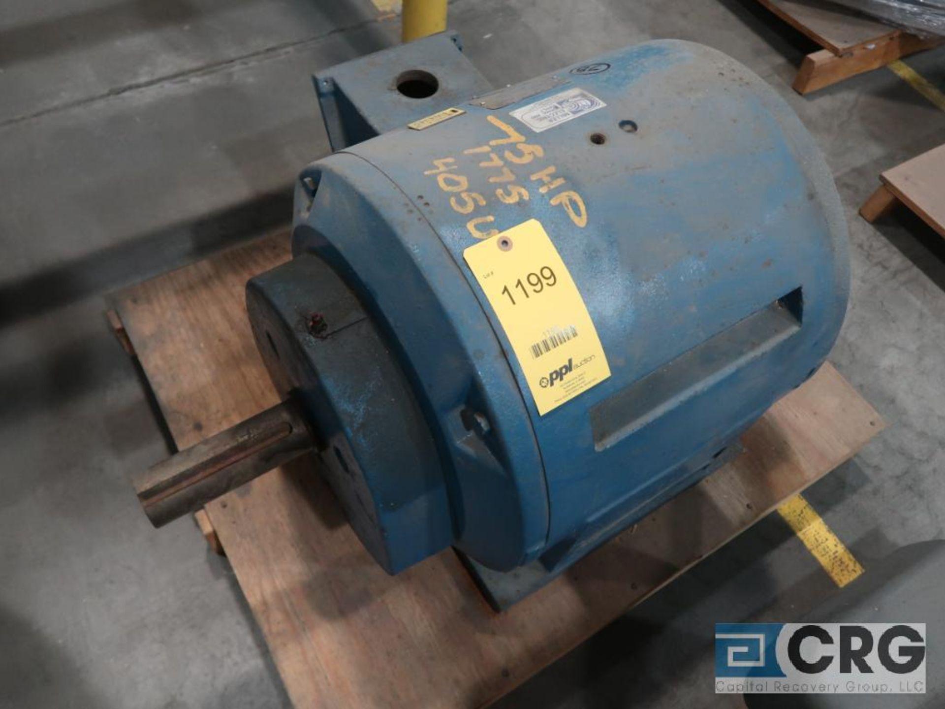 Reliance Duty Master A-C motor, 75 HP, 1,775 RPMs, 208-220/440 volt, 3 ph., 405U frame (Finish