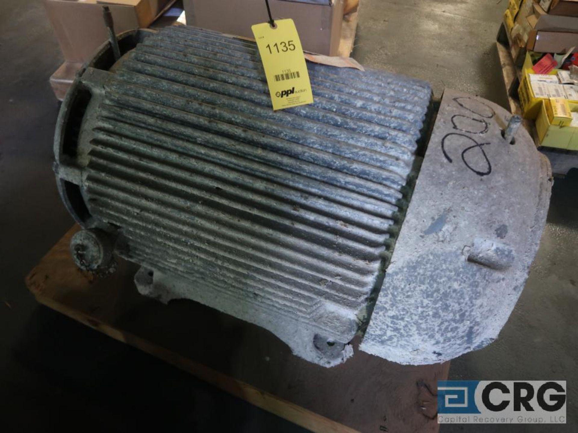 Siemens-Allis induction motor, 200 HP, 3,570 RPMs, 2,300 volt, 3 ph., 447TS frame (Finish Building)