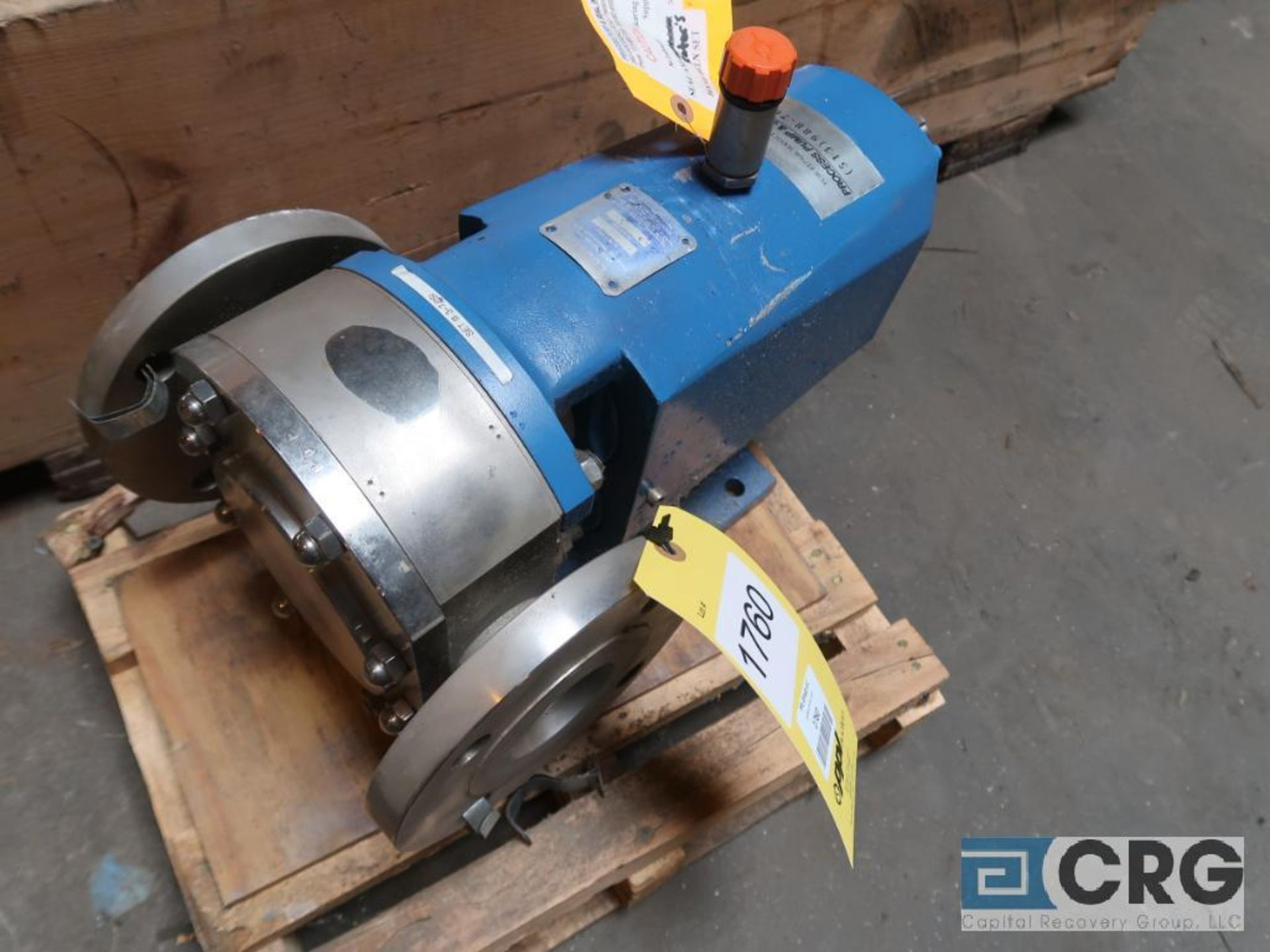 Waukesha 2 1/2 in. stainless positive displacement pump (Next Bay Cage Area)