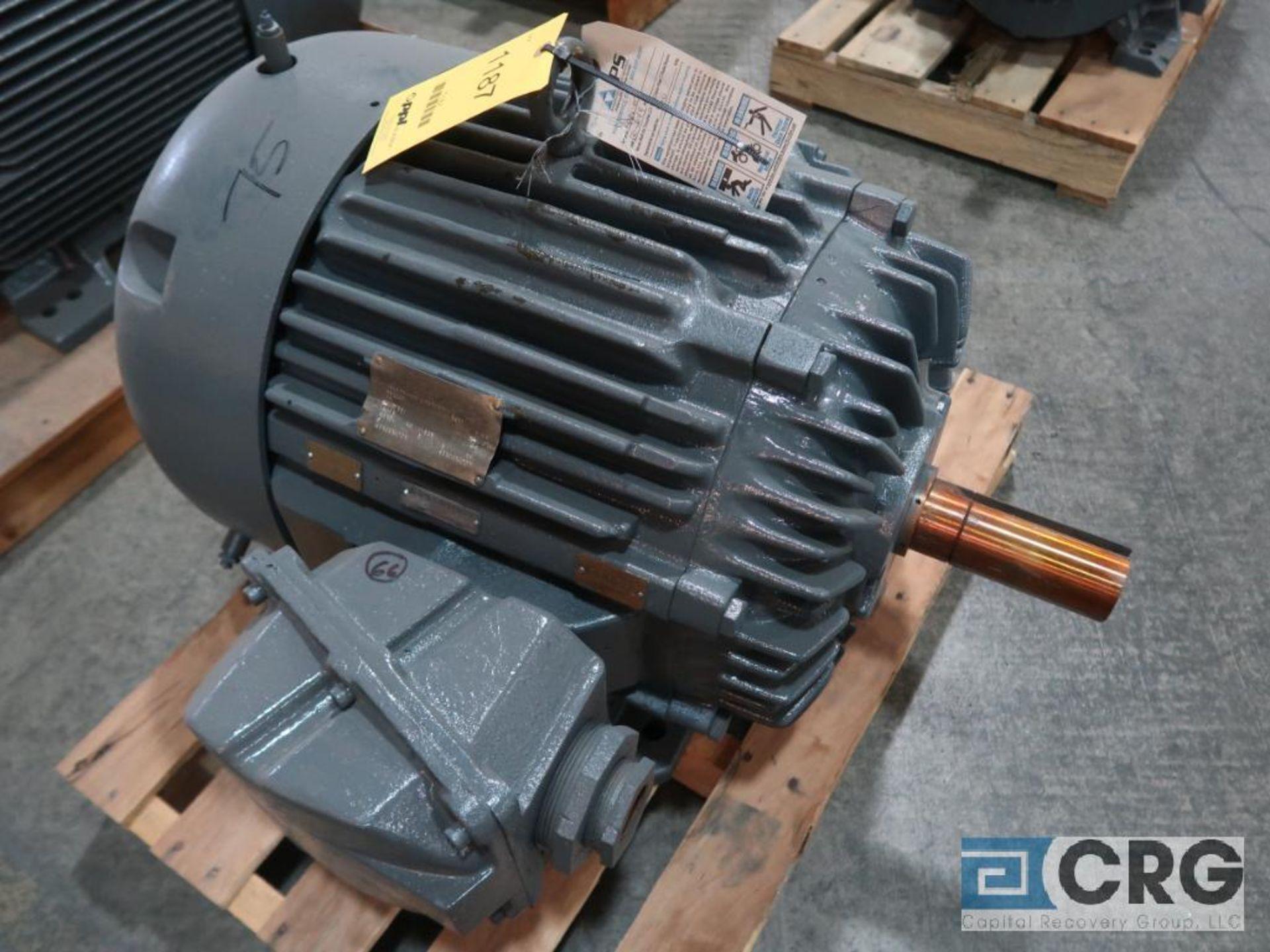 Siemens-Allis PE-21 Efficiency motor, 75 HP, 1,775 RPMs, 460 volt, 3 ph., 365T frame (Finish