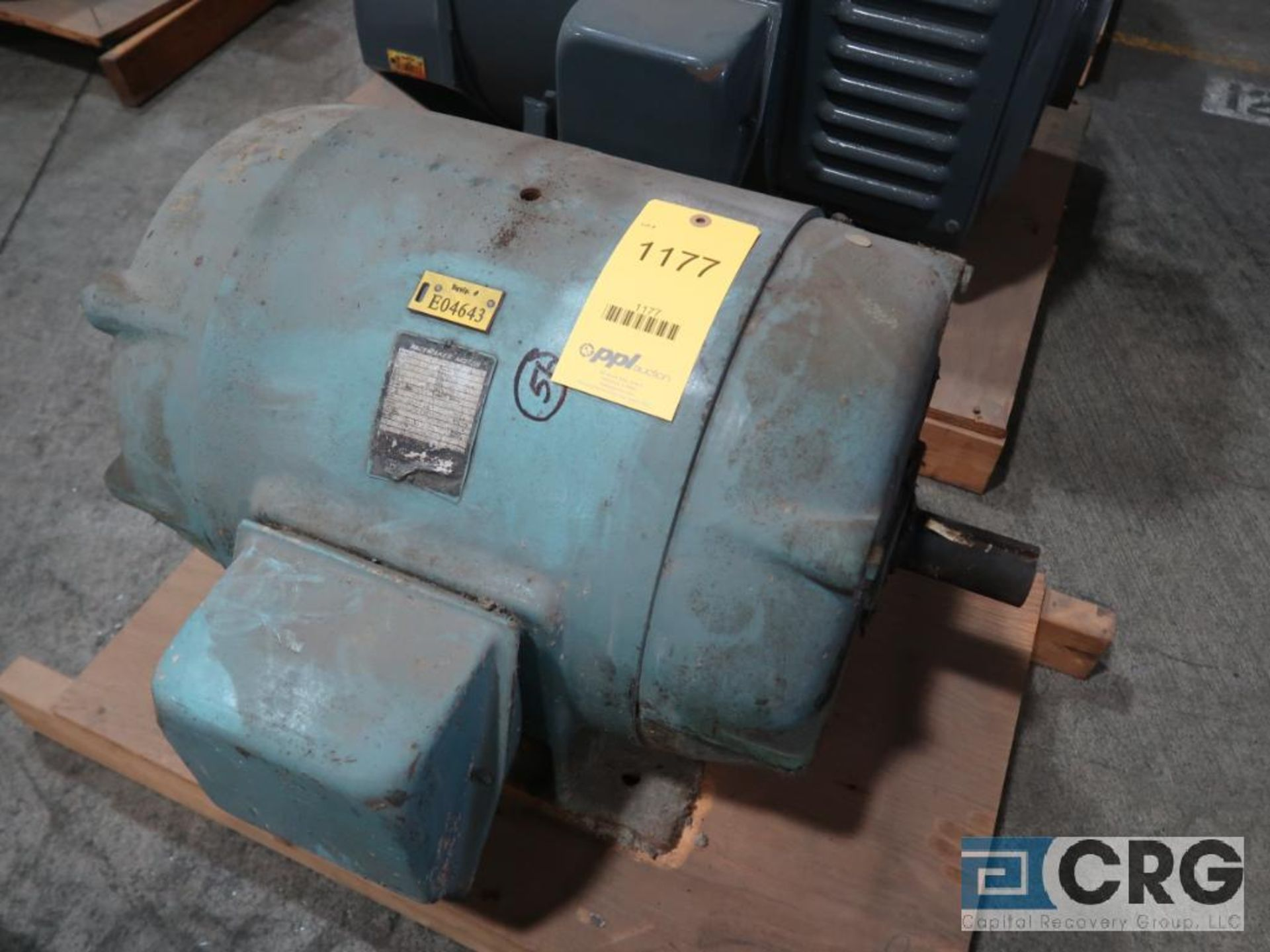 Louis-Allis Pacemaker motor, 100 HP, 3,550 RPMs, 230/460 volt, 3 ph., 365TS frame (Finish Building)