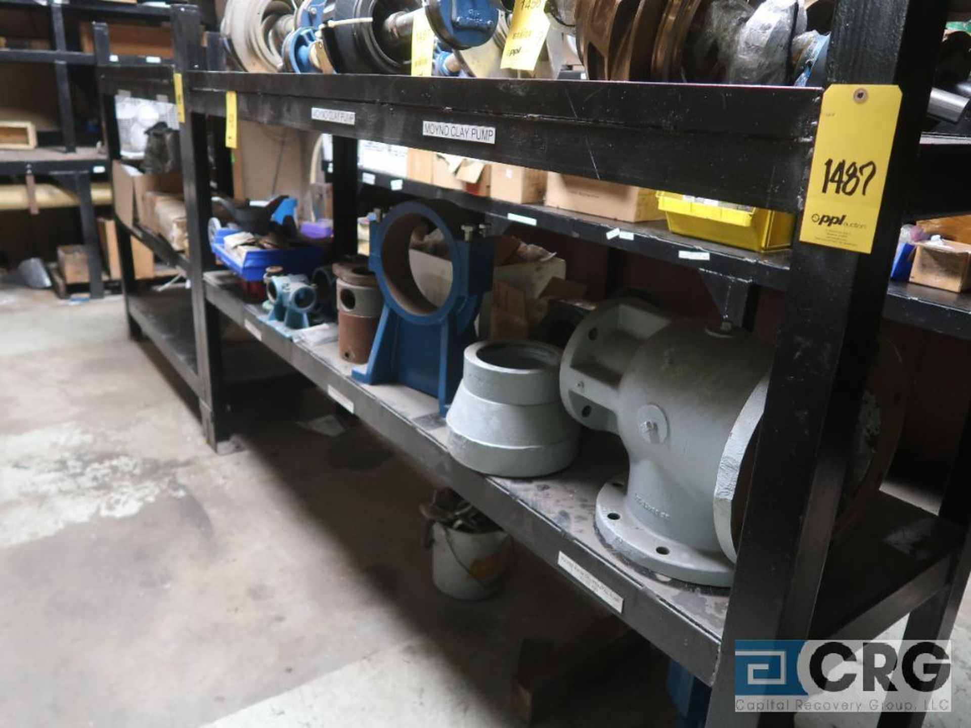Lot of (8) sections shop built rack including (1) 90 in. L x 36 in. W x 76 in. H, (1) 16 ft. L x - Image 2 of 4