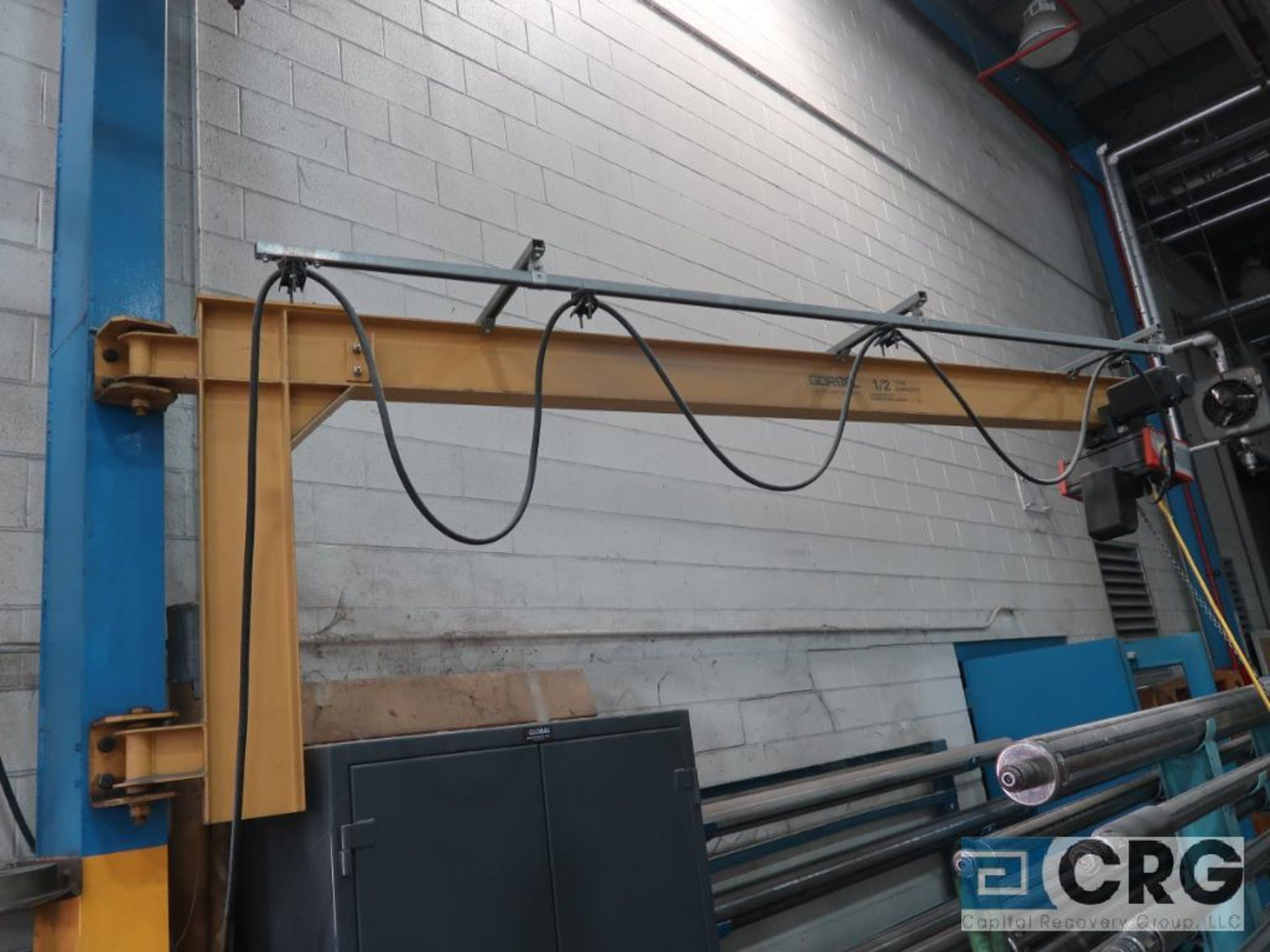 Konecranes hoist, 1/2 ton cap., with Gorbel 10 ft. long swing arm (Located by North 2nd Slitter Roll - Image 2 of 3