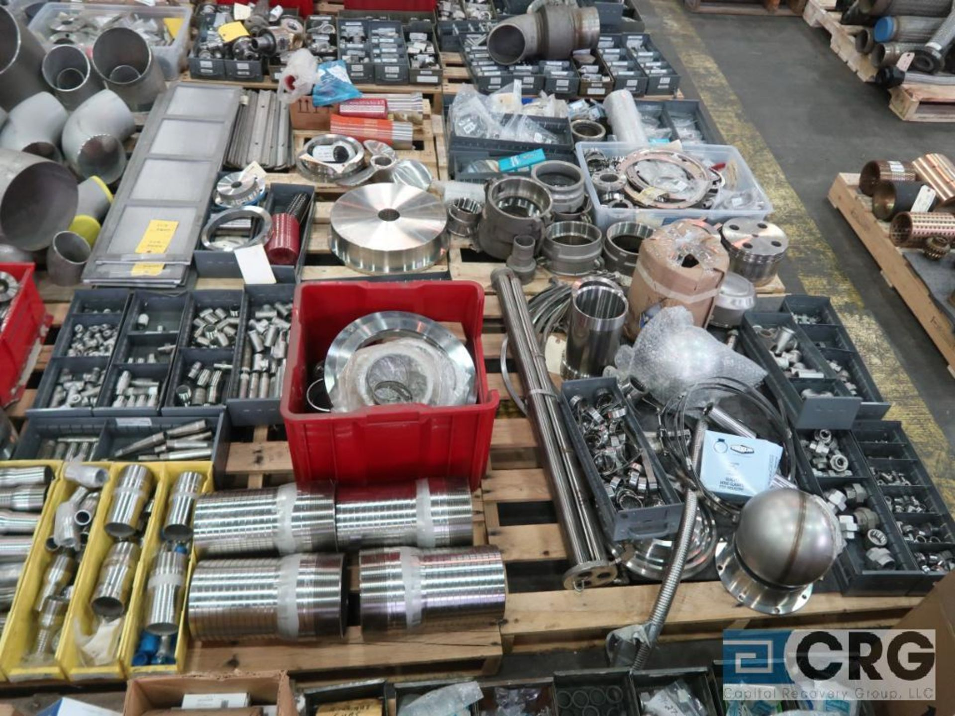 Lot of (14) pallets of stainless fittings, clamsps, couplers, and flanges (Finish Building) - Image 5 of 5