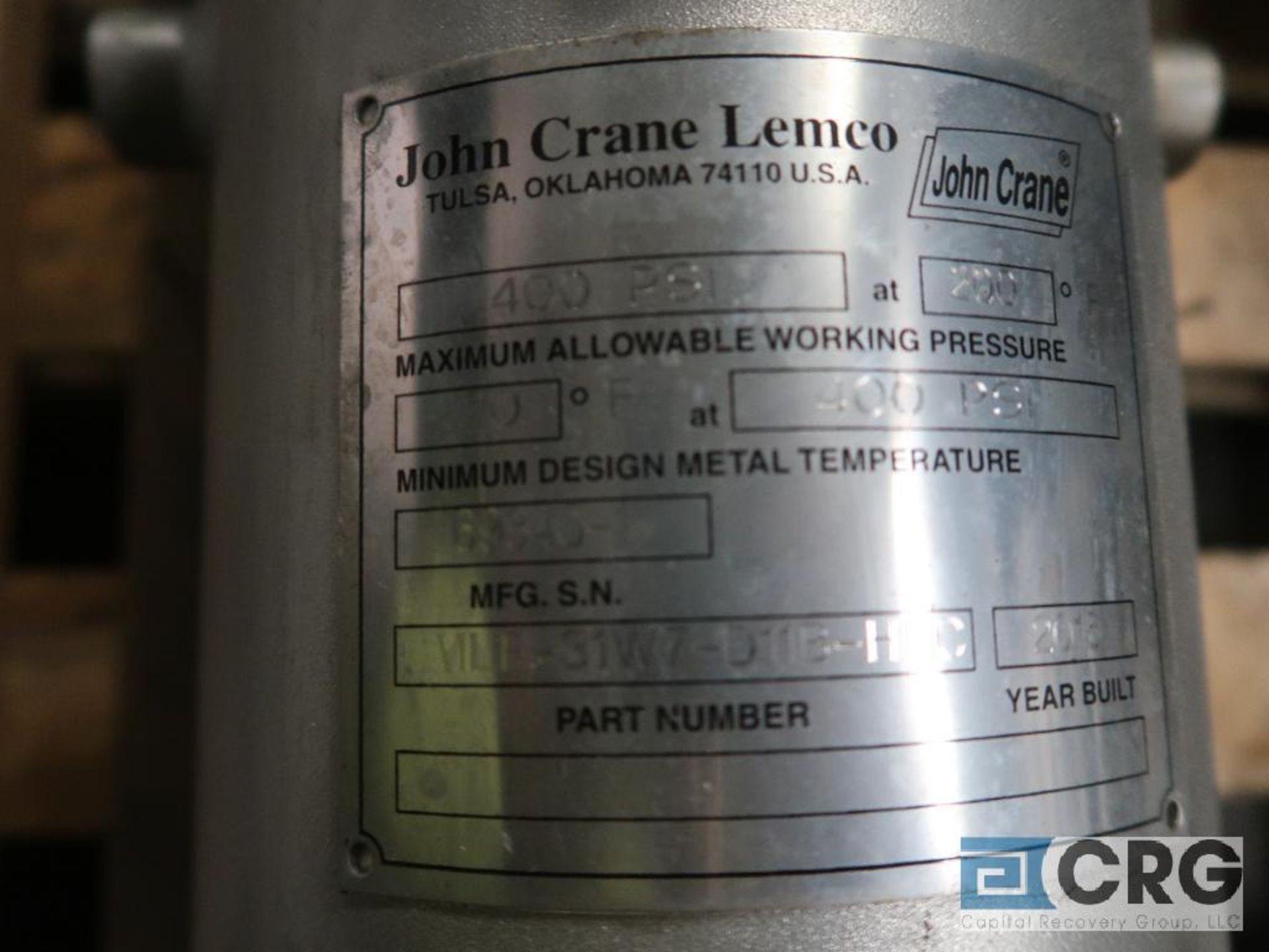 Lot of (2) stainless fluid reservoir tanks, (1) Aessteal SSE25, and (1) John Crane LMLF- - Image 3 of 3