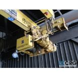 PDS hoist, 13 ton cap., 15 ft. span, 48 ft. run (approx.), s/n 34-1079 (Located main shipping dock)