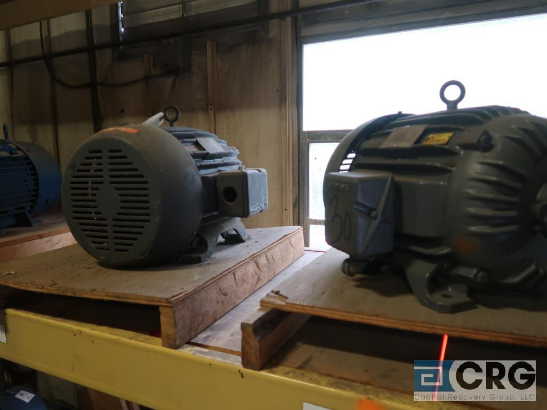Lot of (4) assorted 30 HP motors (Motor Building)