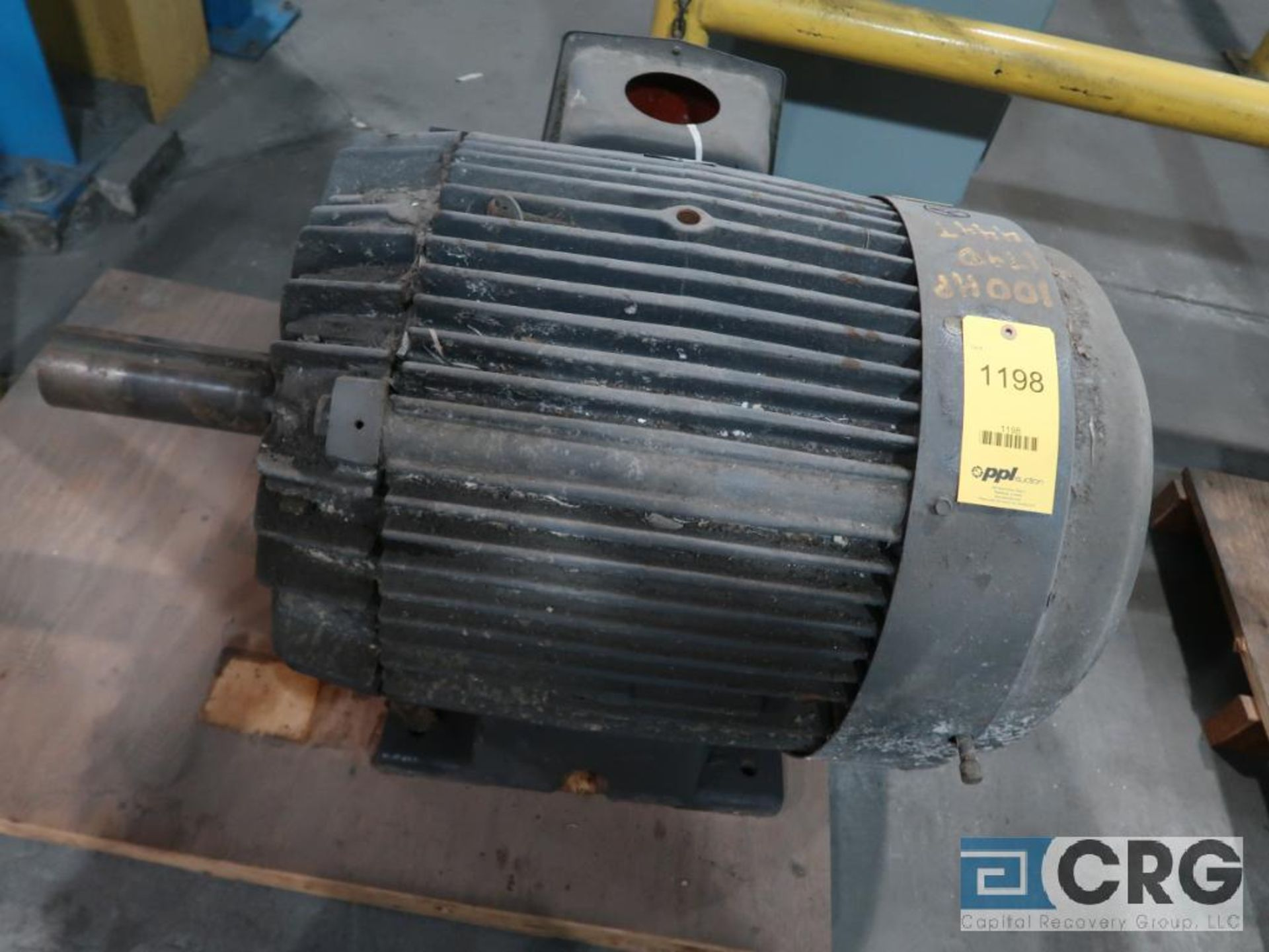 Pacemaker electric motor, 100/50 HP, 1770/885 RPMs, 460 volt, 3 ph., 444T frame (Finish Building)
