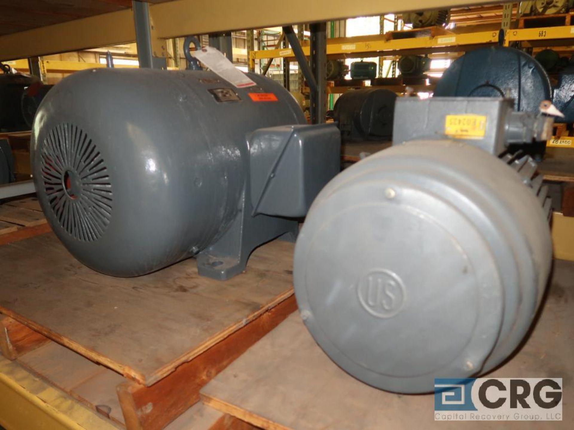 Lot of (4) assorted 20 HP motors (Motor Building) - Image 2 of 2