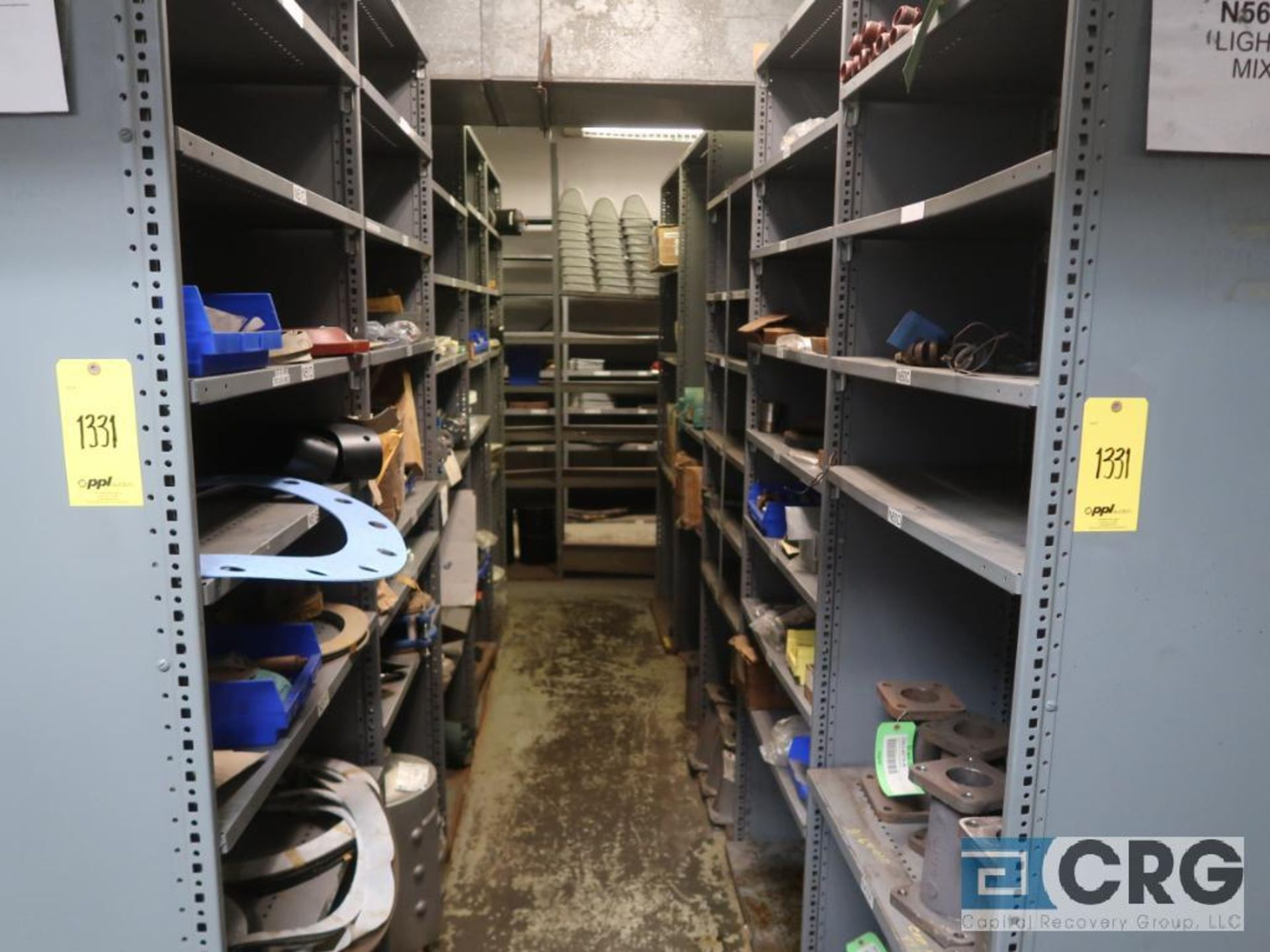 Lot of (35) sections with assorted parts including gaskets, fittings, shaft pins, gears, and - Image 7 of 17