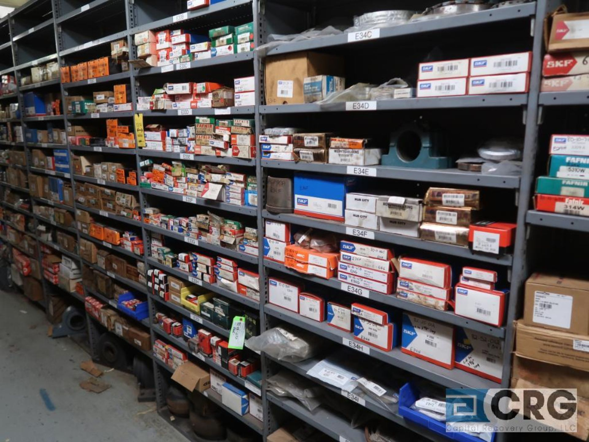 Lot of assorted bearings on (18) sections of metal shelving (located in Basement Store) - Image 5 of 17