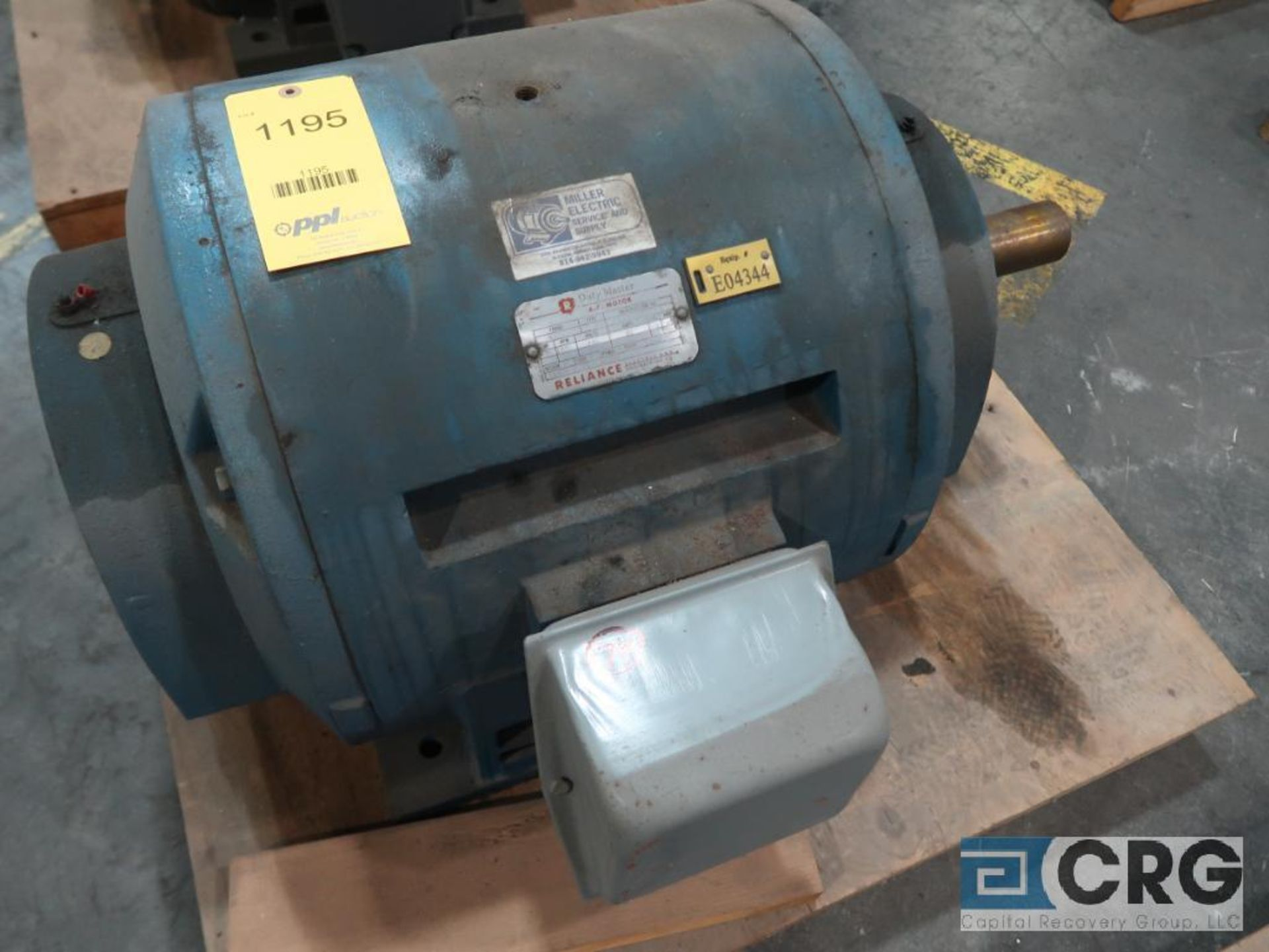 Reliance Duty Master A-C motor, 75 HP, 1,775 RPMs, 440 volt, 3 ph., 405U frame (Finish Building)