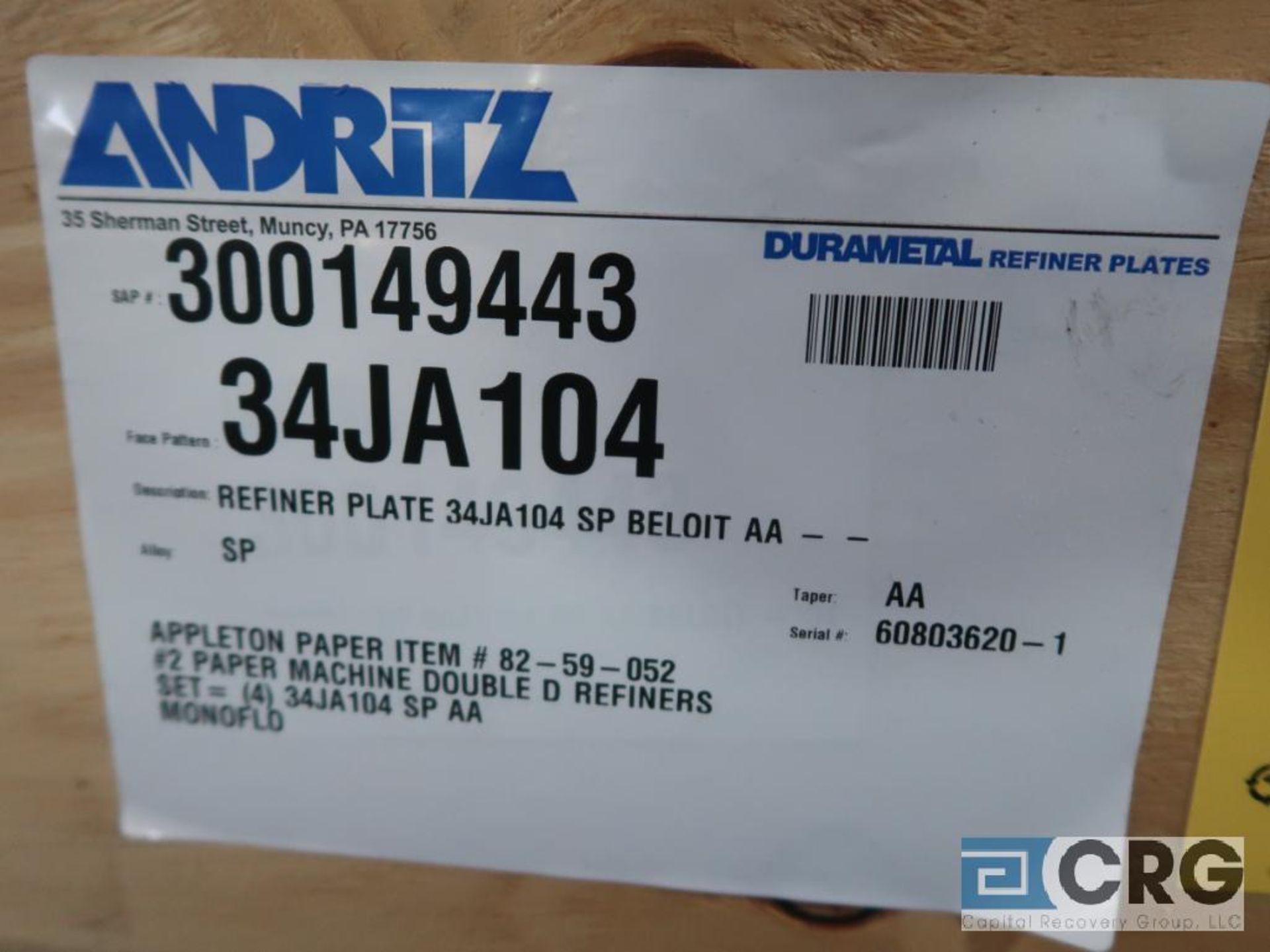 Lot of (8) Andritz 34JA104 refiner plates (Finish Building) - Image 3 of 3