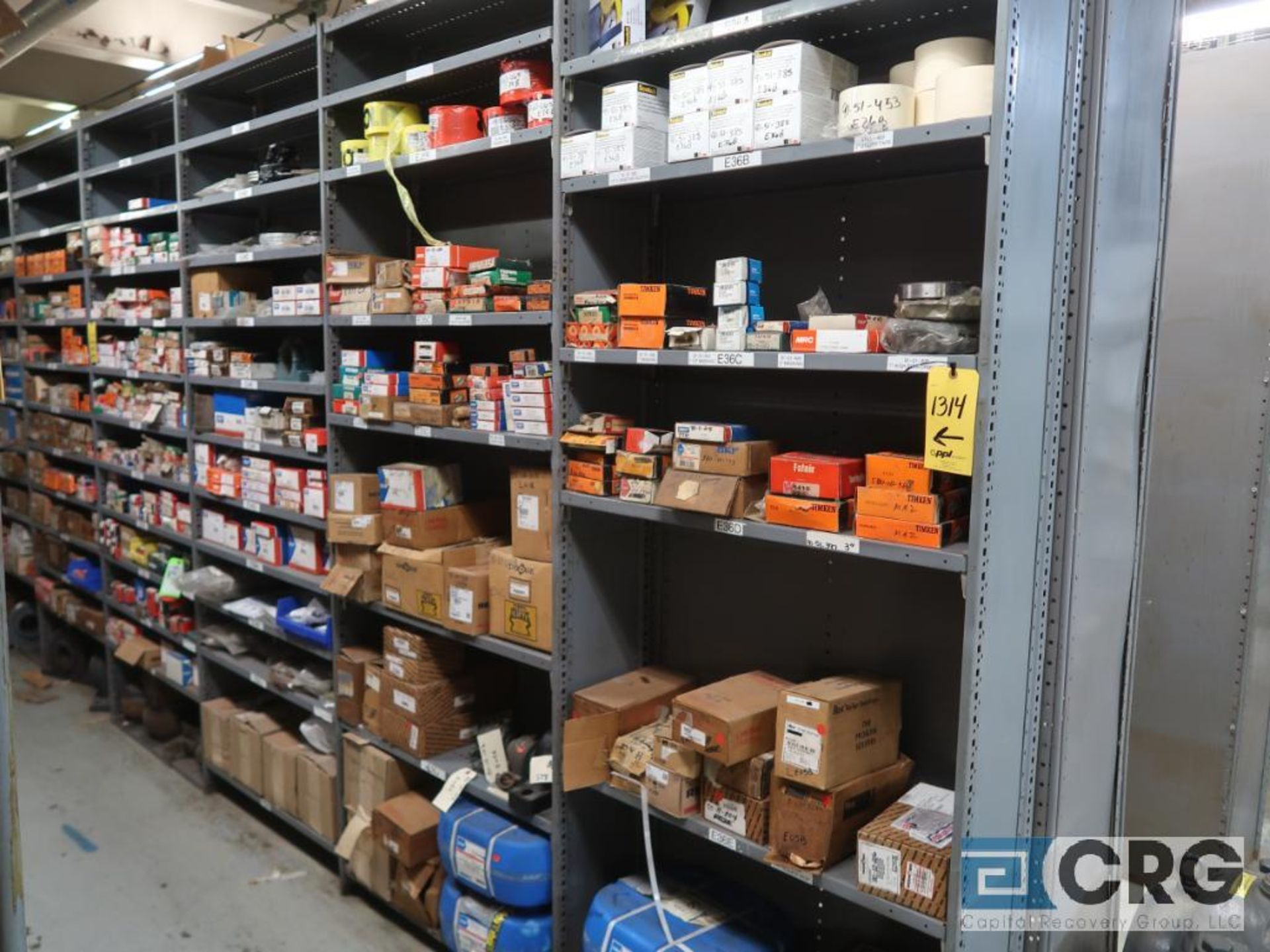 Lot of assorted bearings on (18) sections of metal shelving (located in Basement Store) - Image 3 of 17