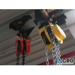 Lot of (3) chain hoists, 1/2 ton cap.-no rail (Stores Area)