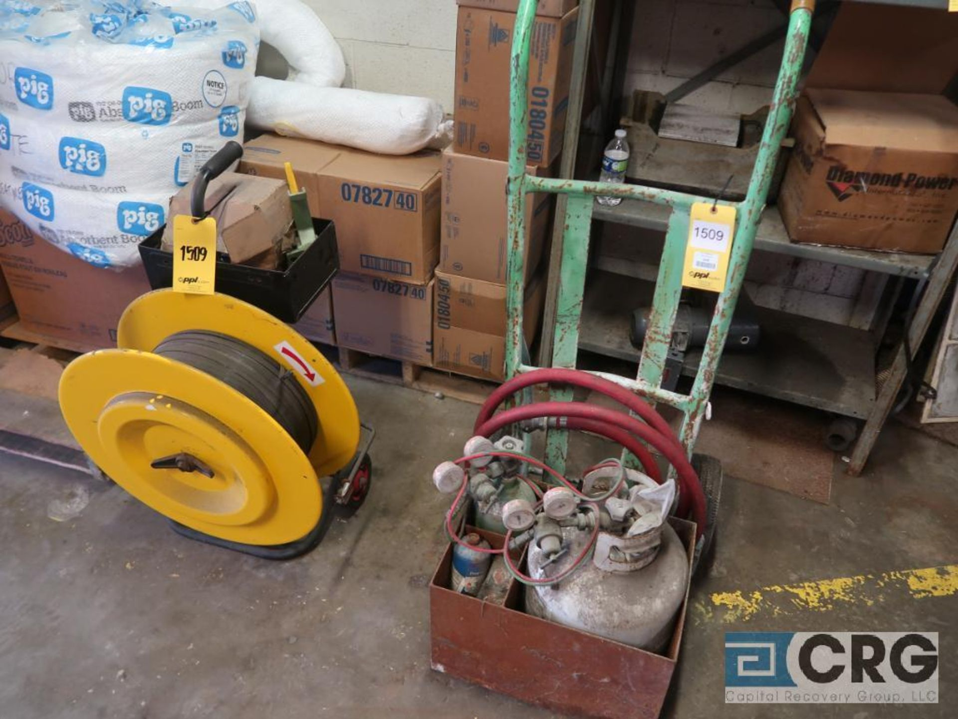 Lot of (1) bander, and (1) propane burner with hand truck (Stores Area)