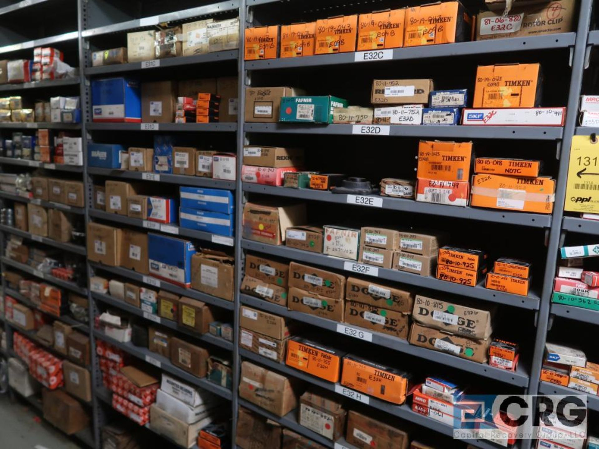 Lot of assorted bearings on (18) sections of metal shelving (located in Basement Store) - Image 6 of 17