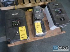 Lot of (4) Vacon variable frequency drives, (2) 20 HP, and (2) 2 HP (Finish Building)