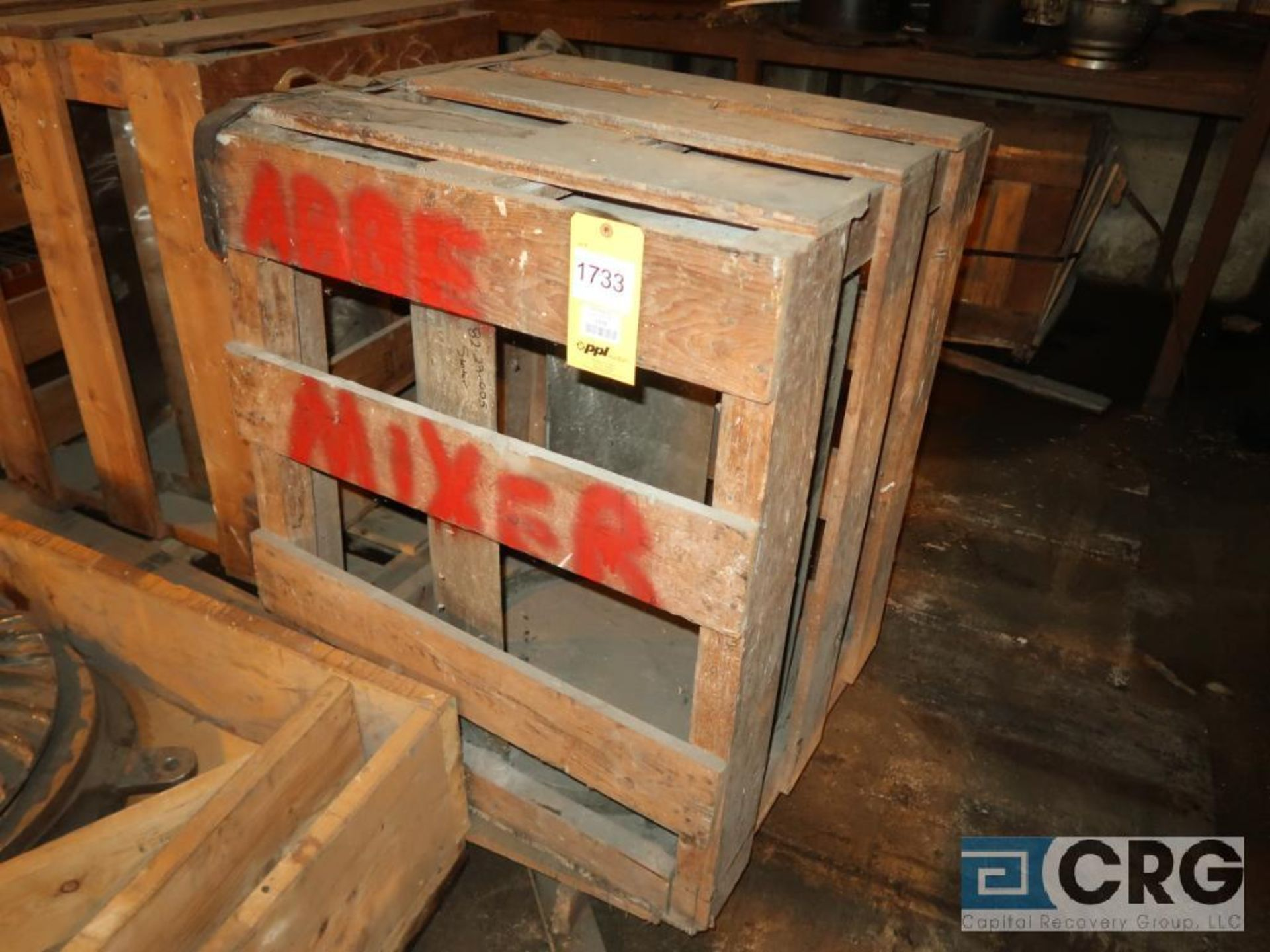 Lot of (2) Abbe stainless mixer blade (Next Bay Cage Area)