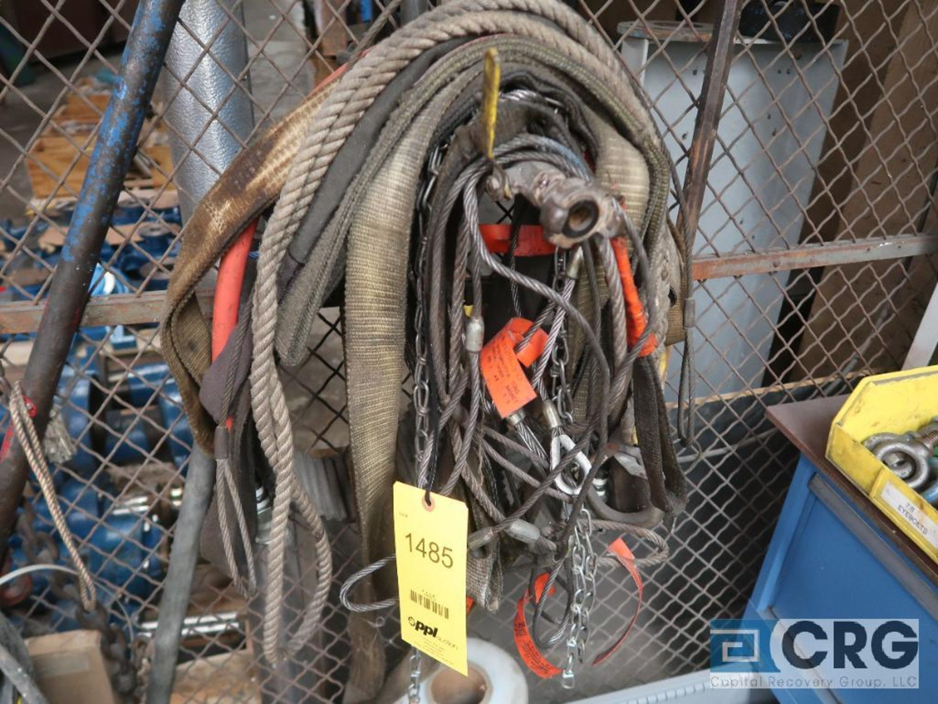 Lot of cable and nylon slings (Basement Stores)