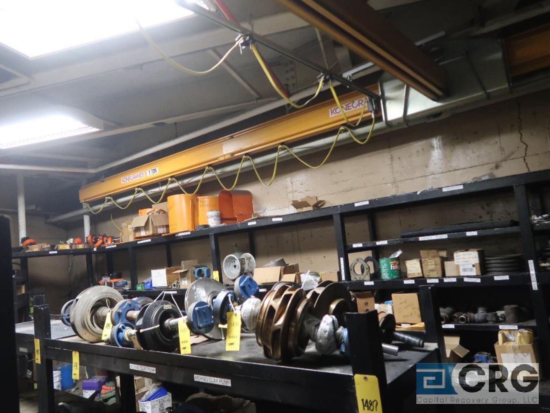Konecrane bridge crane with coffin, JLC electric chain hoist, 16 ft. W x 22 ft. L, 1 ton cap. ( - Image 3 of 3