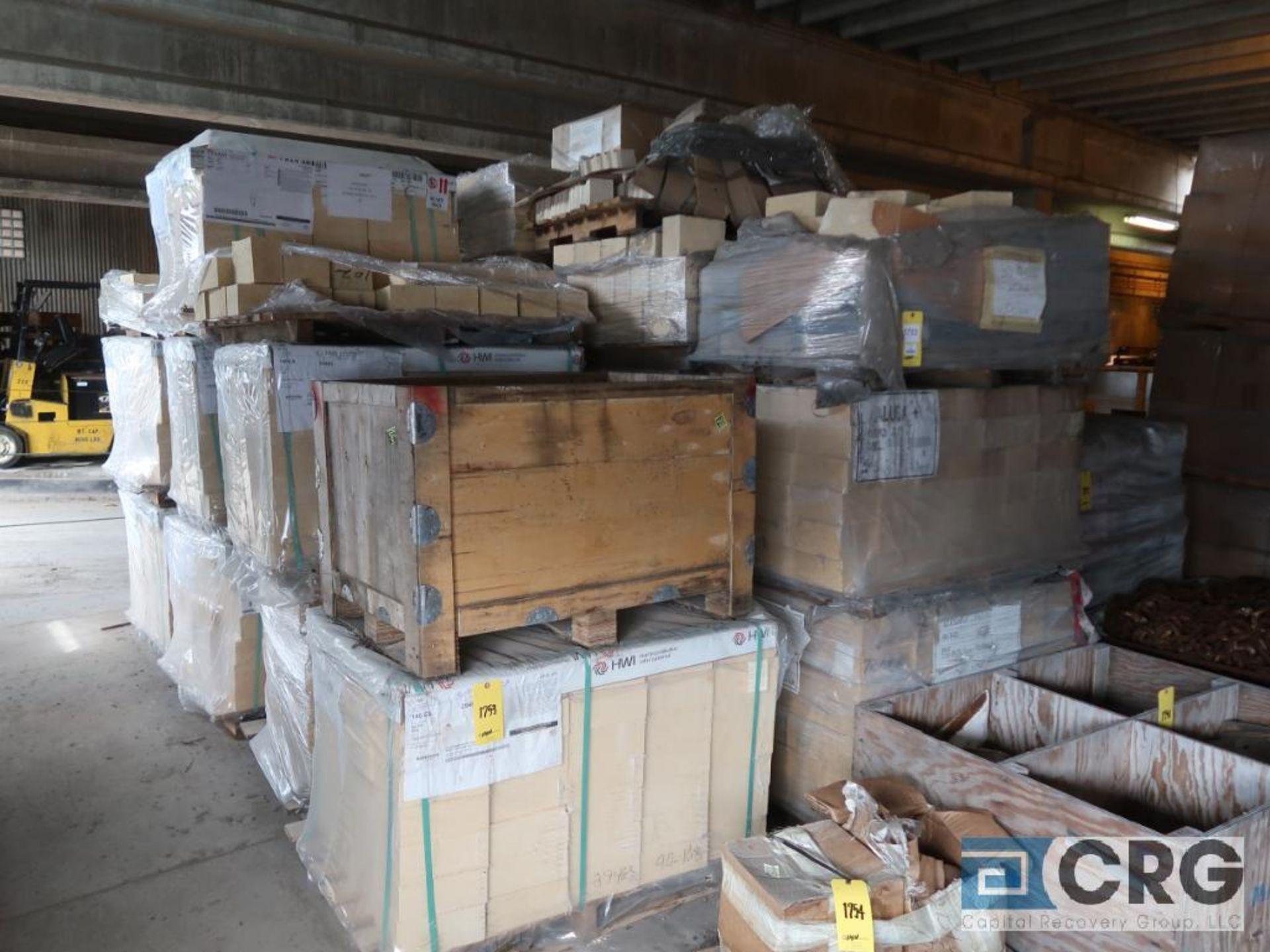 Lot of (31) pallets kiln brick, (1) pallet crete block mix, and (3) pallets ceramic coupling (Next