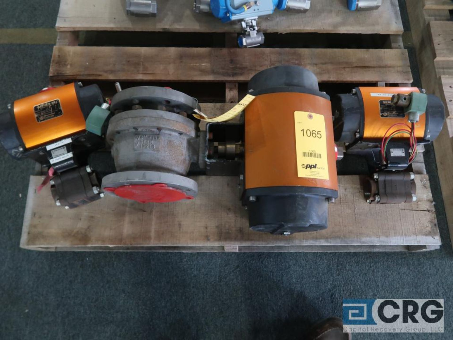 Lot of (3) Worchester actuator valves, (2) 2 in., and (1) 4 in. (Finish Building)