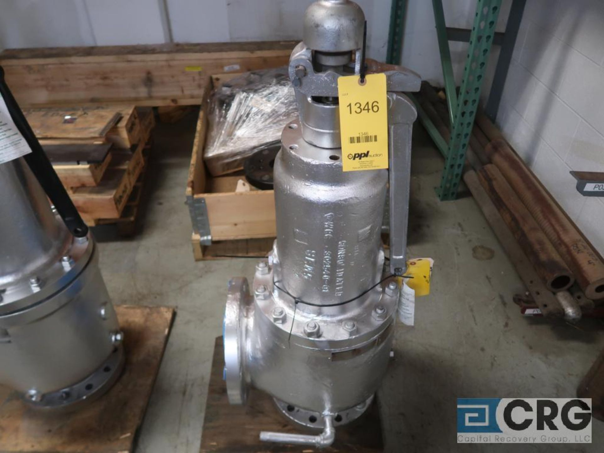 Consolidate 8 in. safety relief valve CL 150 (Store Basement)