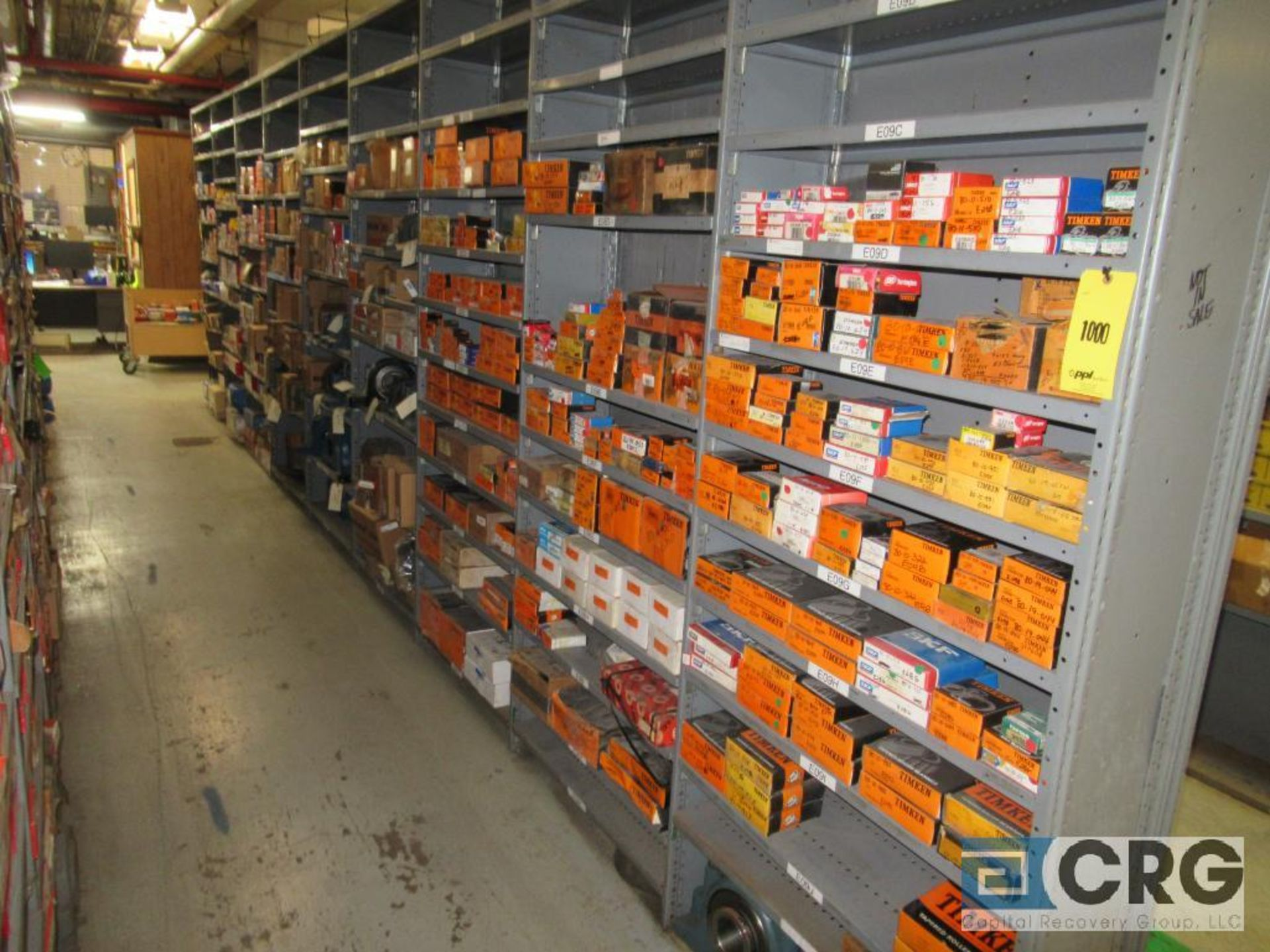 Lot of assorted bearings on (18) sections of metal shelving (located in Basement Store) - Image 4 of 17