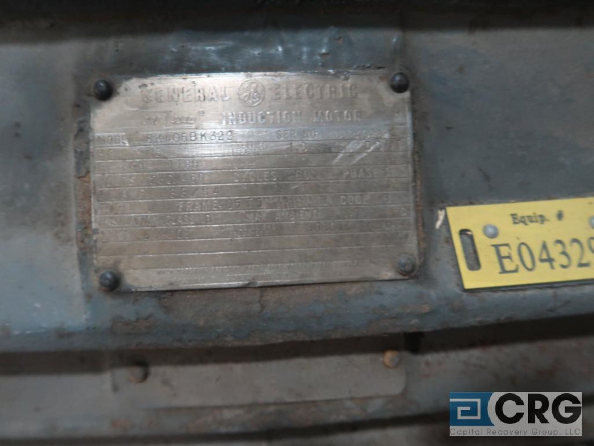 General Electric induction motor, 75 HP, 1,180 RPMs, 230/460 volt, 3 ph., 405TS frame (Finish - Image 2 of 2