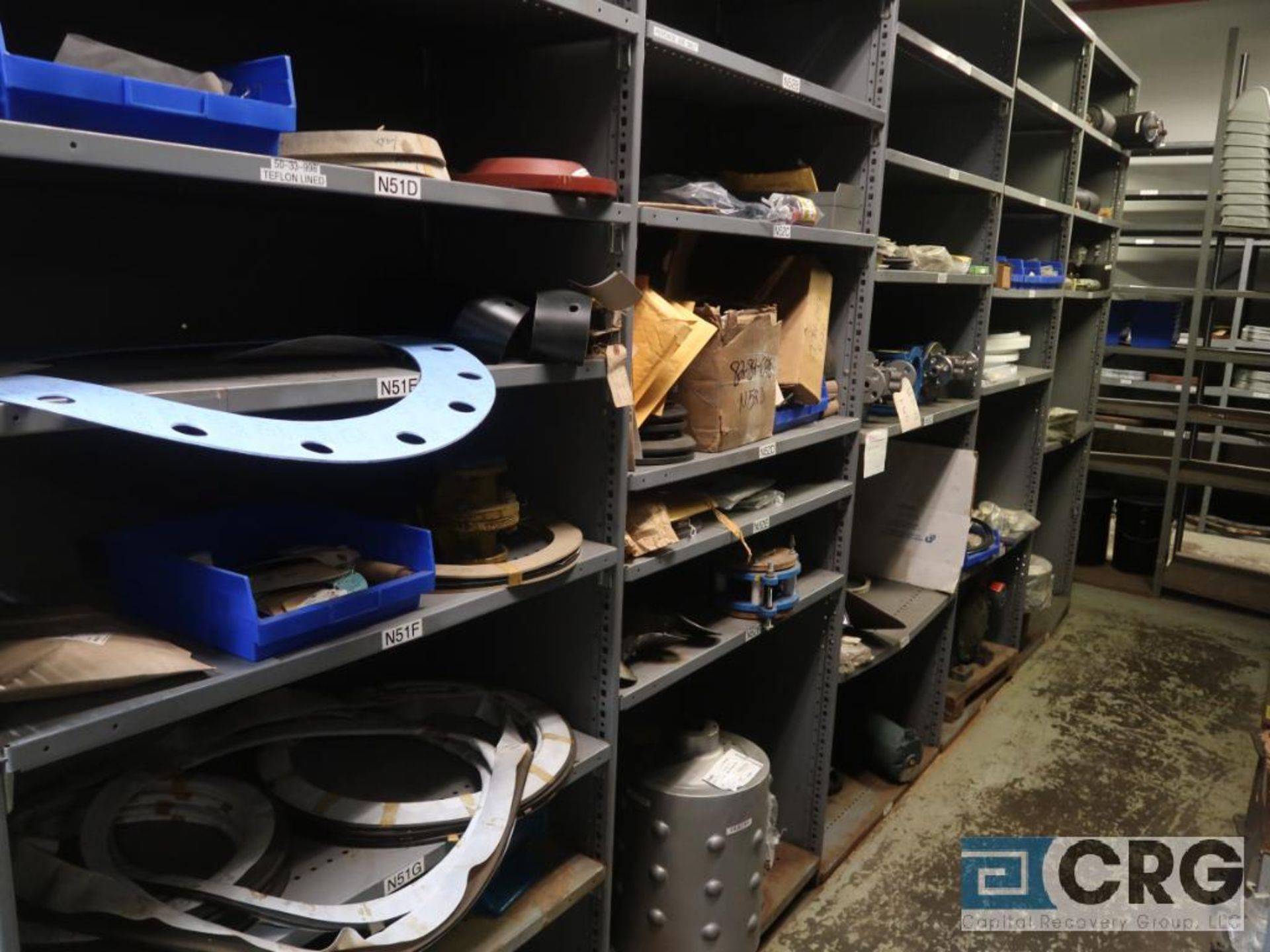 Lot of (35) sections with assorted parts including gaskets, fittings, shaft pins, gears, and - Image 8 of 17